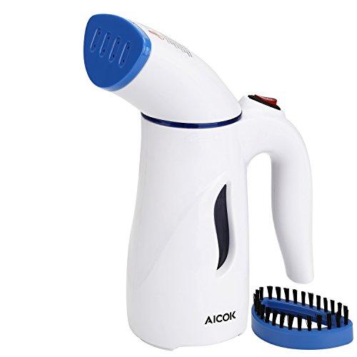 Aicok Dampfglätter, Mini Garment Steamer Reisebügeleisen Dampfbürste Dampfbügelstation mit...