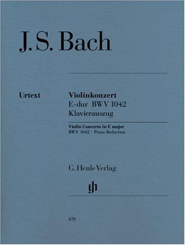 Cto BWV1042 Mi Maj. - Vl/Po