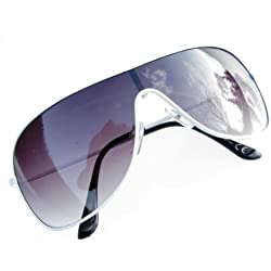 Alpland Sonnenbrille- Pilotenbrille Weiss mit Soft Bag !