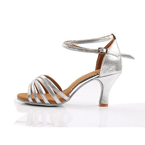 Vesi - Donna Scarpe da Ballo Latino/Sala da Ballo/Standard Tacco 5cm/7cm Argento