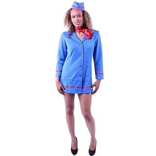 Stewardess Kostüm für Damen Gr. XS Flugbegleiterin Uniform