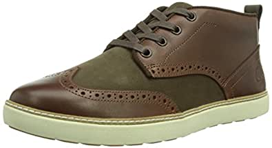 Timberland EK Hudston FTM_Brogue Chukka, Herren Hohe Sneakers, Braun (MEDIUM BROWN), 46 EU (11.5 Herren UK)