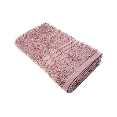 2 X Luxus Gestreift Hotel Qualität 100% Ägyptische Baumwolle Weich Absorbierend Malvenfarben Handtuch 600GSM