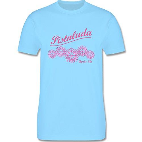 Après Ski - Pistnluda - Schneeflocke pink - Herren Premium T-Shirt Hellblau