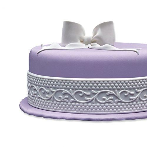 Cake Company Fondantrand in verschiedenen Mustern   gebrauchsfertige, hohe Fondant Bordüre: 1,25m lang x 5cm breit   1 Stück   Fondant-Band in...