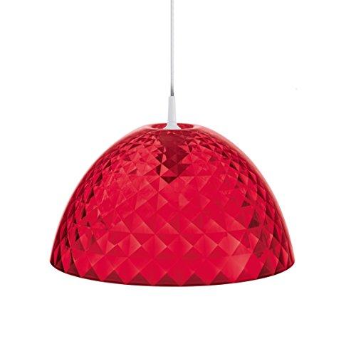 Koziol Pendelleuchte Stella M, Kunststoff, transparent rot, 43,5 x 43,5 x 23,6 cm