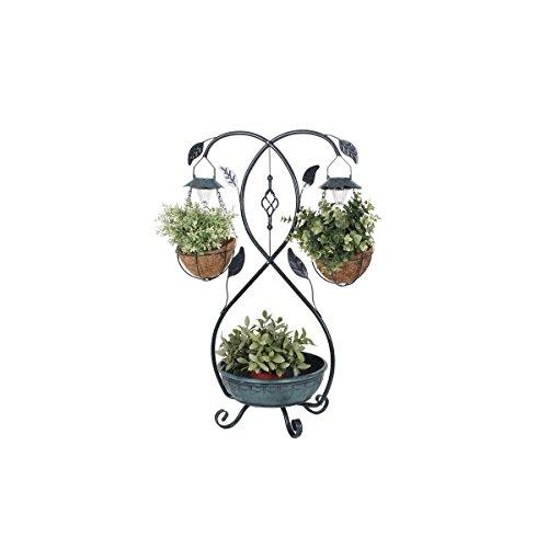 """VARILANDO® Solar-Pflanzschalen \""""Sonja\"""" Pflanzen-Ständer Pflanzständer LED Gärtnern Garten-Beleuchtung"""