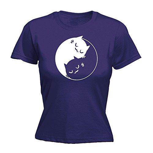 123t Slogans - T-shirt - Slogan - Manches Courtes - Femme Violet