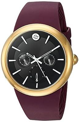 Philip Stein Unisex-Adult Analog Japanese-Quartz Watch with Silicone Strap F43G-LCB-B