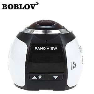 Boblov 360 videocamera 4k Wifi Mini macchina fotografica panoramica 2448 * 2448 Video Ultra HD 16M panorama a 360 gradi panoramica telecamere 3D VR Camera - Bianco