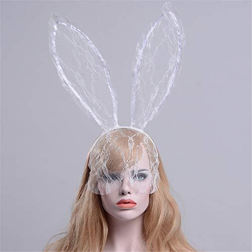 Damen Sexy Party Maske Haarband Spitze Häschen Ohren Mullschleier Haarschleier Halloween Weihnachten geheimnisvolle Maskerade Maske Karneval Party Cosplay