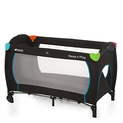 Hauck 600702 sleep n play go plus lettino da campeggio pieghevole con accessori, multicolore