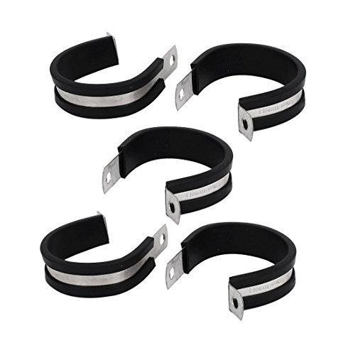 Deal Mux 42 mm Tuyau Dia caoutchouc EPDM P Câble Clips Colliers de serrage Support 5pcs