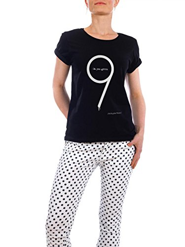 """Design T-Shirt Frauen Earth Positive """"Oh You Green Nine"""" - stylisches Shirt Typografie von Boris Draschoff Schwarz"""