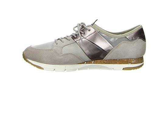 Tamaris 23615-28 238 Damen Sneaker Lack- und Stretch-Einsätze leichte Laufsohle - 2