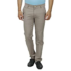 SAVON Mens Casual Pants Slim Fit Stretch Linen Look Trouser For Men Light Comfortable Fabric