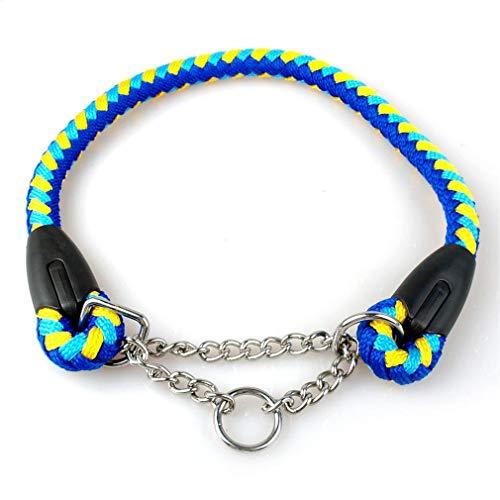 Geflochtenen Seil Hund Choke Kragen Martingal Hundetraining Halsbänder 22-26