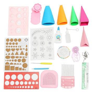 MELCT Quilling DIY Papier Kunst Handwerk Werkzeug Full Kit Quilling Arbeitsbrett Form Grid Guide Tool -