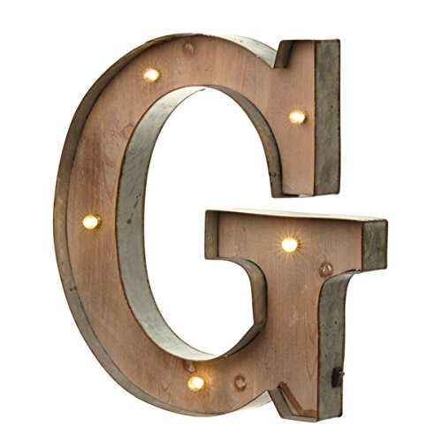 Vintage Illuminated Carnival Lights - A-Z - Choice of Alphabet Letters (Letter G) by Heaven Sends