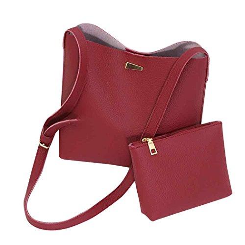 YOUBan Damen Handtasche 2PC Mode einfache Tasche Kuriertaschen Frauen Taschen Mini Damen Umhängetasche