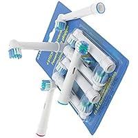 Lot de 4brossettes de rechange pour brosse à dents électrique Oral B Brosse à dents électrique Hygiène Care Clean