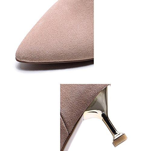 LIANGJUN Con Tacco Scarpe Caviglia Stivali Stivaletti Donne Primavera Inverno Sport All'aperto, 2 Colori, 6 Dimensioni Disponibili ( Colore : 2# , dimensioni : EU37=UK5=L:235mm ) 1#