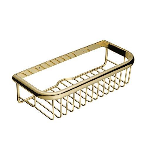 Beelee Badezimmer Regal Wandregale Duschkorb aus Messing, mit Seifenablagebereich -