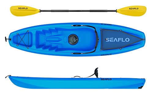 Seaflo Sit on Top Kayak avec pagaie et Support pour Canne à...