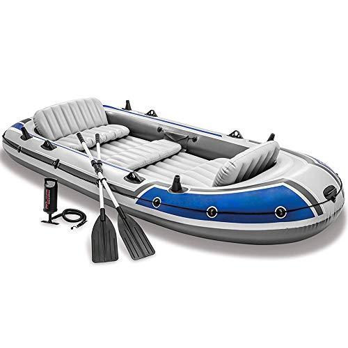 DMBHW Lebensboot Aufblasbar Schlauchboot 5 Personen Outdoor-Rafting Unabhängige Luftkammer ist sicherer Verdicken PVC-Material mit Ruder und Luftpumpe