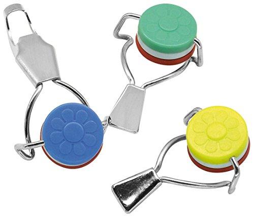 FACKELMANN luftdichten Deckel für Flaschen, 3Stück, Kunststoff, mehrfarbig