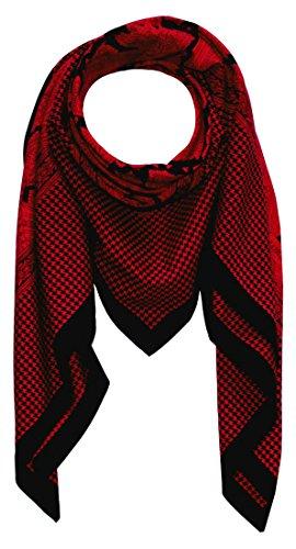 LORENZO CANA High End quadratisches XL Luxus Tuch Baumwolle kombiniert mit Seide 110 x 110 cm Naturfaser Marken Schaltuch Halstuch Hahnentritt Paisley 8912611 (Aus Seide Hahnentritt-schal)