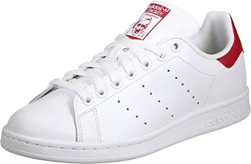 adidas Stan Smith, Scarpe da Running Unisex – Adulto bianco rosso