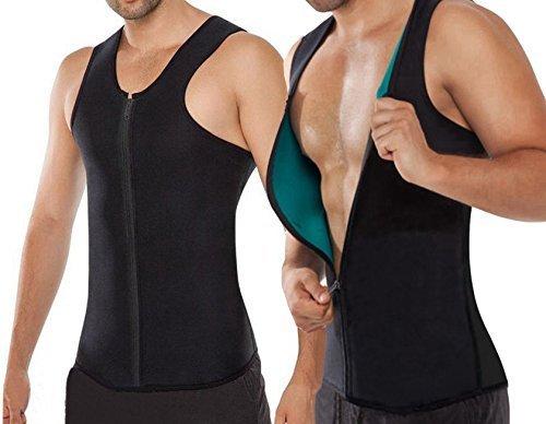 Chaleco Sauna Hombre NOVECASA Compresion de Neopreno Chaleco Modelador Camiseta Reductora para Adelgazante Sudoración Musculación con Cremallera (S, Chaleco Azul)