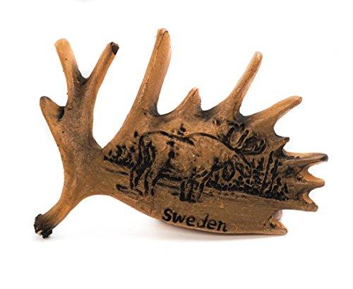 zamonji 3D Harz Kühlschrankmagnet. Welt Tourismus Souvenirs Home Dekoration - Schweden (Elch) (Elch-magnet)
