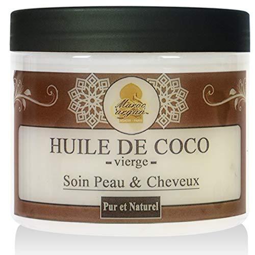 Huile Végétale De Coco Pure et Naturelle - Soin Cheveux, Peau Visage et Corps - 200ml