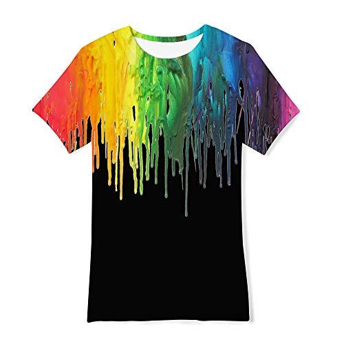 edb5c98a RAISEVERN Funny Tshirt Kids 3D Print Negro Camiseta Summer Casual de Manga  Corta para Adolescentes