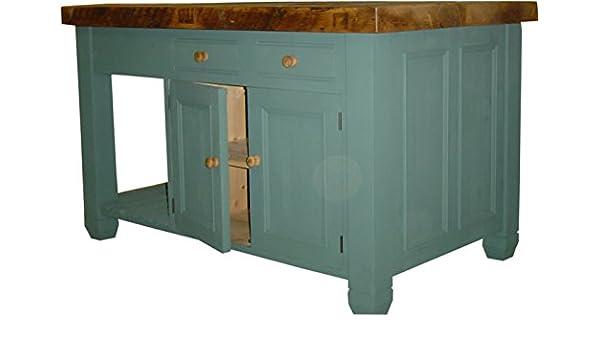 Küche Insel-Holz massiv Kiefer-wiederverwertetem Top-hergestellt in ...
