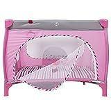 WYJW Lettino da Viaggio Portatile Lettino a gattile Safety Play Yard Bambino Baby Infant Box per Neonati/Toddler/Neonato/Safe Crawling (Rosa)