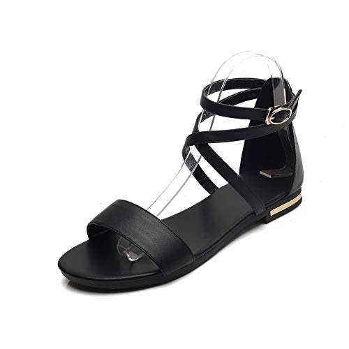 1TO9 MJS03818 Blocco Scarpe col Tacco Moda Slouch Boots Puro Donne Nero - 34.5 EU (Etichetta:34)