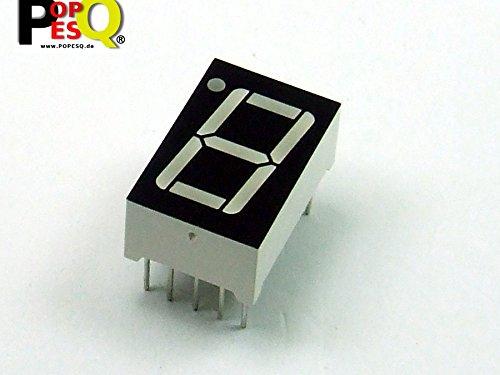 POPESQ® - 1 Stk. x 7-Segment Anzeige 14.2mm 1 Digit Gemeinsame Kathode Rot / 1 pcs. x 7-Segment Display 14.2mm 1 Digit Common Cathode Red #A1284