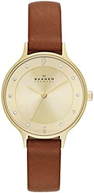 Skagen Womens Quartz Watch, Analog Display and Leather Strap SKW2147