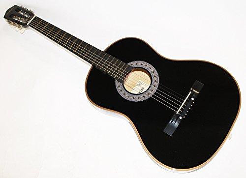 Cherrystone Konzertgitarre Akustik Gitarre Schülergitarre Größen- und Farbwahl (4/4, schwarz)