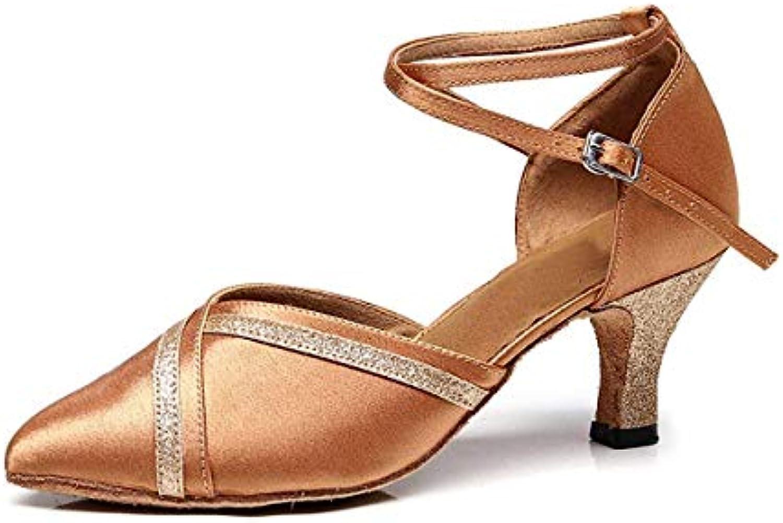 Willsego TJ7141 Ladies Fashion 2 Low Heel Nude Satin Scarpe da Ballo Professionali Pompe da Sposa UK 4.5 (Coloreee... | Della Qualità  | Gentiluomo/Signora Scarpa
