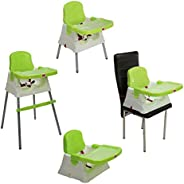 LuvLap 4 in 1 Convertible High Chair Cum Booster Seat (Green)