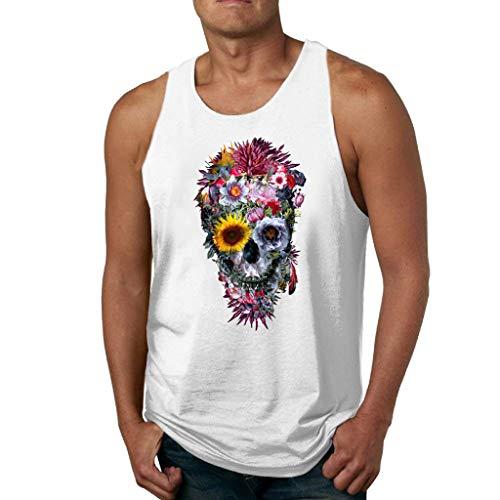 Plain Low-cut (FRAUIT Herren Gym Muscle Weste Drucken Sleeveless T-Shirts Low Cut Bodybuilding Tank Top Fitness Übung Laufen Outfit Tops S-XL)