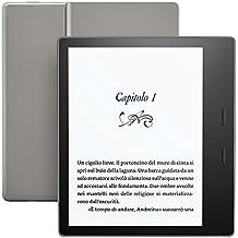 """E-reader Kindle Oasis - Grafite, resistente all'acqua, schermo da 7"""" ad alta risoluzione (300 ppi), 8GB, connettività Wi-Fi"""