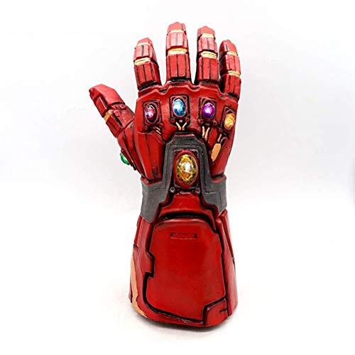 XIONGDA Cosplay Prop Handschuhe Spielzeug Personalisieren Kreative Handschuh mit 6 LED Leuchten Edelsteine   Latex 1: 1 PVC Klon Rohen Stein Hauptdekorationen Kinder (Die Iron Man Leuchten Handschuhe)