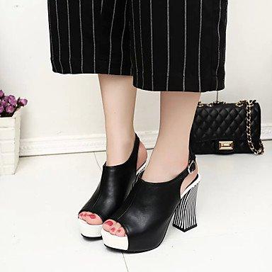 LFNLYX Bottes pour femmes automne hiver robe PU Confort Talon décontracté à lacets fermeture Éclair Noir Brun Bourgogne Black