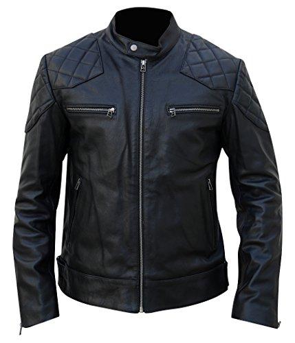 Juicy Trendz Herren Motorrade Lederjacke bikerjacke motorradjacke Klassischer Stil Kunstleder motorcycle Leather Jackets (Rindleder-leder-motorrad-jacke-mantel)