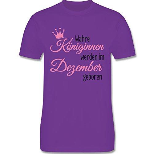 Geburtstag - Wahre Königinnen werden im Dezember geboren - Herren Premium T-Shirt Lila